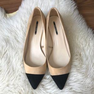 Zara basic color block heels